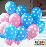 Balloon Junction PINK & BLUE Polka Dot B...