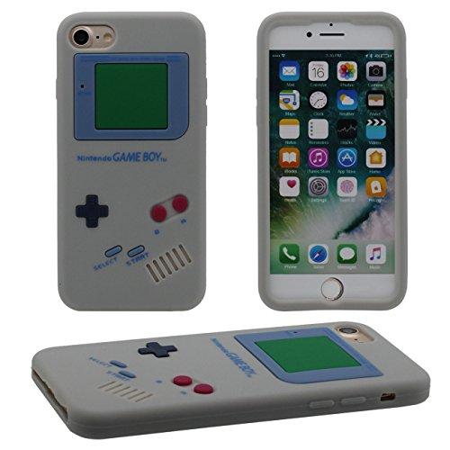 iPhone 7 Plus Coque, Mince et léger Prime Doux Silicone Plastique Original Classique Game Boy 3D Forme Serie Housse de Protection Case Anti Choc pour Apple iPhone 7 Plus 5.5 inch gris
