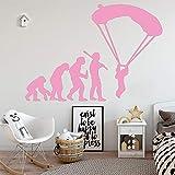 Ajcwhml Cute Human Evolution Eco Baby Sticker Vinilo decoración de la habitación de los niños decoración de la casa de Estilo nórdico Rosa 58cm X 82cm