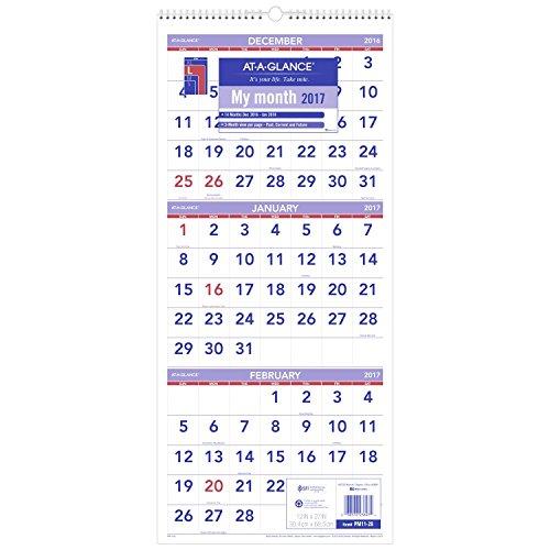 at-a-glance-wall-calendar-2017-three-month-view-14-months-december-start-12-x-27-wirebound-pm11-28-b