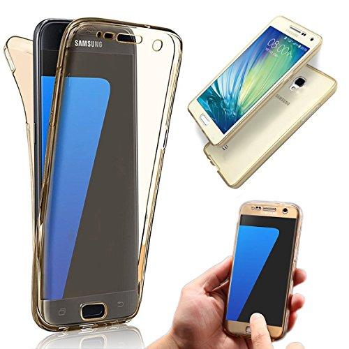 Galaxy S4 Coque,Samsung Galaxy S4 Etui,Vandot Samsung Galaxy S4 I9500 Etui Protection Dorsale Étui Slim Invisible Housse Cover Case en TPU Gel Silicone Coque de Protection Etui Transparent Antidérapan Transparent-Or