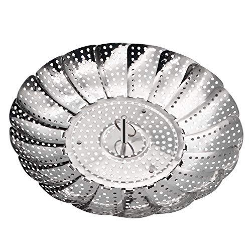 Greesuit piroscafo pieghevole pieghevole pieghevole in acciaio inox pieghevole per cuocere a vapore in bagno d'acqua per tutti i tipi di pentole