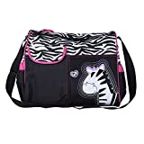 TRIXES Zebra Baby Changing Bag Including Changing Mat and Clear Accessory Bag
