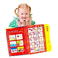 Boxiki kids ABC Sound Book For Children / English Letters & Words Learning Book, Fun Educational Toy Learning Activities for Letters, Words, Numbers, Shapes, Colors and Animals for Toddlers