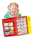 Boxiki Kids Englisch ABC Klangbuch für Kinder / Englische Buchstaben & Wörter Lehrbuch, Lernspielzeug das Spaß macht. Lernaktivitäten für Buchstaben, Wörter, Nummern, Formen, Farben und Tiere für Kleinkinder.