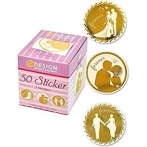 Avery Zweckform 56812 Sticker Auf Rolle, Hochzeit (38 Mm, Im Spender) 50