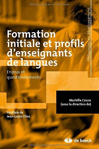 Formation initiale et profils d'enseignants de langues