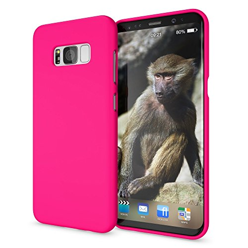 NALIA Handyhülle kompatibel mit Samsung Galaxy S8, Ultra-Slim TPU Silikon Neon Case, Dünnes Cover Gummi Schutzhülle Skin, Etui Handy-Tasche Backcover Smartphone Bumper, Farbe:Pink Pink Gummi Case
