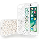 iPhone 7 Hülle, iPhone 8 Hülle von Yousave Accessories [Damast Muster] TPU Hart Hülle, iPhone 7 (2016) & iPhone 8 (2017) – Weiß