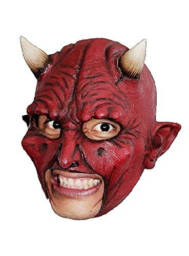 Teufel kinnlose Latex Maske Satan zum Luzifer Kostüm Halloween