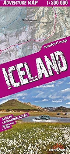 Iceland laminated 2017: TQU.038 (Adventure Map)