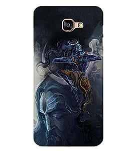 PrintVisa Lord Natraj Dance Rudra High Glossy Designer Back Case Cover for Samsung Galaxy A9