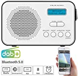 VR-Radio Radio: Mobiles Akku-Digitalradio mit DAB+ & FM, Wecker, Bluetooth 5, 8 Watt (Radio DAB)