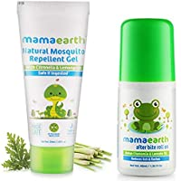 Mamaearth Natural Mosquito Repellent Gel, 50ml & After Bite Roll On for Rashes & Mosquito Bites with Lavander & Witchhazel, 40ml Combo
