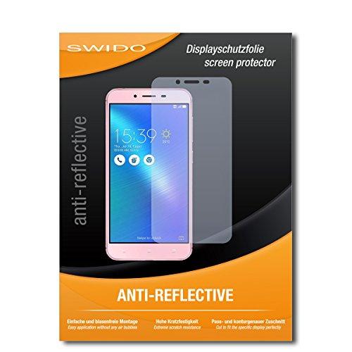 SWIDO Schutzfolie für Asus Zenfone 3 Max (ZC553KL) [2 Stück] Anti-Reflex MATT Entspiegelnd, Hoher Härtegrad, Schutz vor Kratzer/Bildschirmschutz, Bildschirmschutzfolie, Panzerglas-Folie