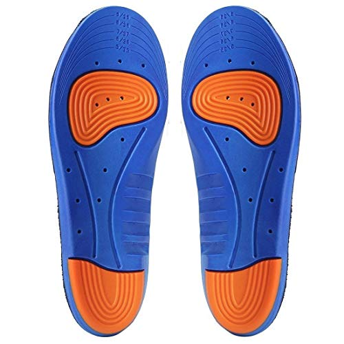 Royalkart Sports Gel Insoles and Shoe Inserts for Women and Men Breathable Cushion with Small Holes