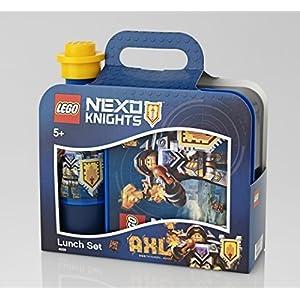 """Lego Lunch Set """"Nexo Knights - AXL Motivo - composto da Scatola Di Pranzo & Borraccia - Ideale per pranzo, Frutta, Snacks - da viaggio o Casa 4250649423883 LEGO"""