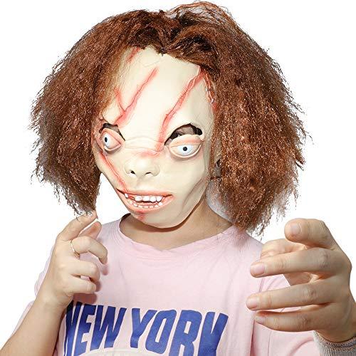 Supmaker Horror Maske, Scary Chucky Maske Chainsaw Horror Klassische Halloween Maske für Maskerade