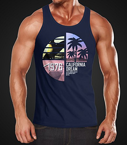 Herren Tanktop California Surfing Moonworks® California navy