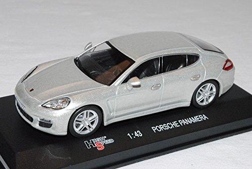 Porsche-Panamera-Silber-Limousine-Ab-2009-143-High-Speed-Modell-Auto-mit-oder-ohne-individiuellem-Wunschkennzeichen