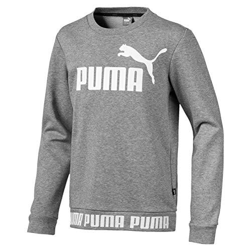 Puma Jungen Amplified Crew B Sweatshirt, Medium Gray Heather, 164