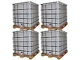 IBC 1000 l Container SET =52 Stück auf Holzpalette Zustand gebraucht, hochdruckgereinigt