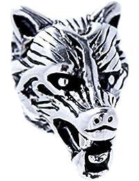 Bartperle Haarperle Edelstahl Wolf 8mm