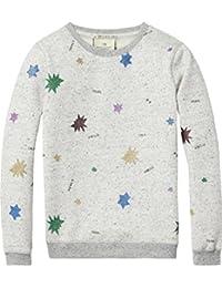 Scotch & Soda Mädchen Glittered Star Sweatshirt