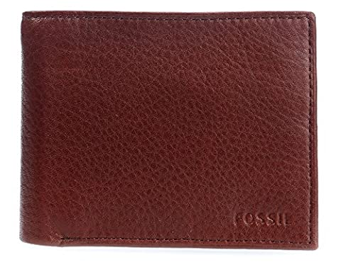 FOSSIL Ingram Large Coin Pocket Bifold Wine
