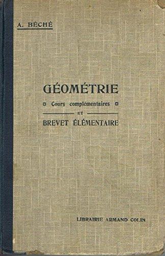 Géométrie -cours complémentaires et brevet élémentaire