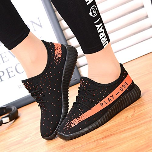Ms. scarpe sportive Scarpe da corsa moda traspirante Scarpe basse nero