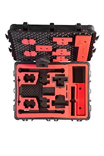 Professioneller Transportkoffer für DJI Inspire 2 - Landing Mode - Platz fuer X4S/X5S - 20 Batterien, Objektive, Deckel im Peli 1630 Koffer von MC-CASES - 5