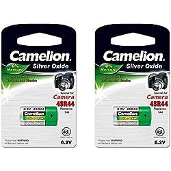 CAMELION - Lot de 2 piles 6 volts 4SR44 ( oxyde d'argent ) pour LACME