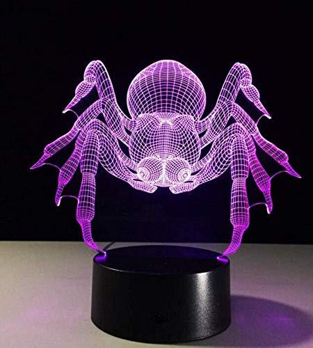 QiXian Nachtlicht Wandleuchte Led Lampe 3D Visuelle Illusion Licht Transparent Acryl Nachtlicht Blei Märchen Farbwechsel Touch Tisch 3D Licht für Küche Schlafzimmer Wohnzimmer