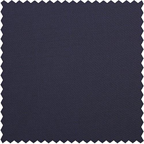 Gabardine, uni, dunkelblau-schwarz, 150 cm breit, Meterware (Stoff Gabardine Schwarze Wolle)