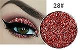 Glitter Lidshatten Pressed Glitter Eyeshadow N. 28 Rosso Arancione