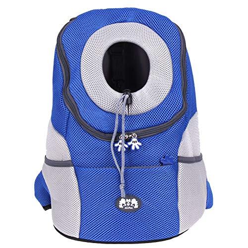 QWERDFV Haustier Rucksack Hund Tasche Hund Haustier Hund Oxford Tuch Gitter Plaid Front Tasche Tragbare Reisetasche Mesh Rucksack Rucksack (Mesh-plaid-rucksack)