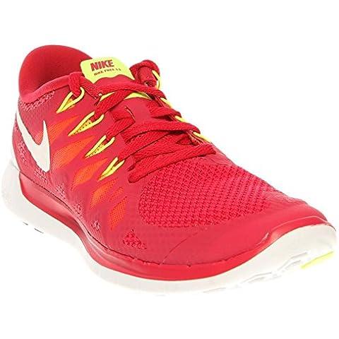 Nike Free 5.0 Women Laufschuhe logan red-white-laser crimson-atomic mango - 42,5