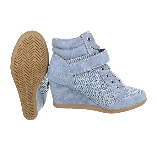 Ital-Design, Sneaker donna, Rosso (rosso), 39 EU