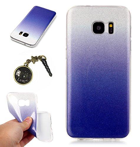 TPU Coque Galaxy S7 Edge, Bling Bling Gliter Sparkle Coque Galaxy S7 Edge Paillette [ Ultra Mince ] Housse Etui Premium Coque pour Samsung Galaxy S7 Edge +Bouchons de poussière (14RR)