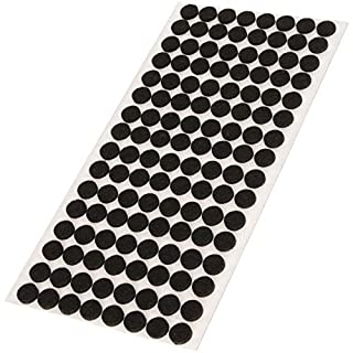 Adsamm® | 128 x Felt Pads | Ø 0.47'' (Ø 12 mm) | Black | Round | self-Adhesive Furniture Glides with Felt Thickness of 0.138''/3.5 mm in top-Quality by Adsamm®