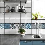 J Art de tuiles mural - Adhésif carrelage   Sticker Autocollant Carrelage - Mosaïque carrelage mural salle de bain et cuisine   - 20x20 cm - 10 pièces TS017 , as picture