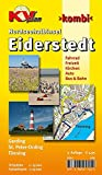 Eiderstedt Nordseehalbinsel - St. Peter Ording, Tönning, Garding: 1:15.000 Detailkarten der Orte mit Freizeitkarte 1:30.000 inkl. aller Radrouten (KVplan-Kombi-Reihe)