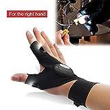 HCFKJ Nachtfischen Handschuh Mit Led-Licht RettungsgeräTe Outdoor-AusrüStung (Richtig)