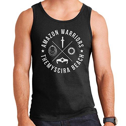 Wonder Woman Amazon Warriors Themyscira Men's Vest Black