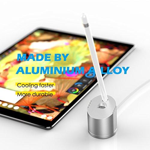 Apple Belistift Ladestation /Apple Pencil CharingdockStand/ Ständer ladeDock/ Dock mit eingebautem Ladekabel Aluminiumhalter für Apple iPad Pro/Air 2 Bleistift wofalo...(1.5m kabel)