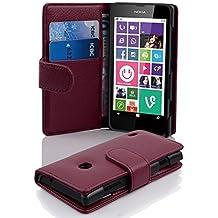 Cadorabo - Funda Nokia Lumia 630 / 635 Book Style de Cuero Sintético en Diseño Libro - Etui Case Cover Carcasa Caja Protección con Tarjetero en BURDEOS-VIOLETA