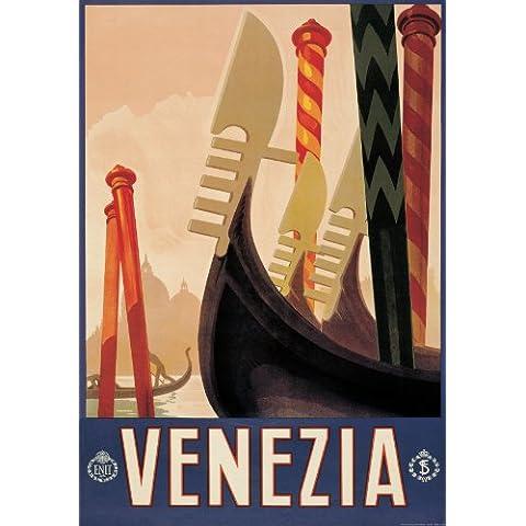 Si Venecia Gondola papel