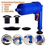 Krishyam New High Pressure Toilet Floor Drain Cansation Air Power Plunger Blaster Pump
