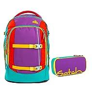Satch, Set de Sac scolaire multicolore Lila Grün Rot